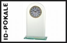 Glastrophäe mit Uhrwerk