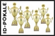 6er Pokalserie mit Deckel + Aufsatz