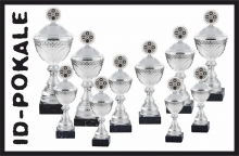 10er Pokalserie mit Deckel + Aufsatz